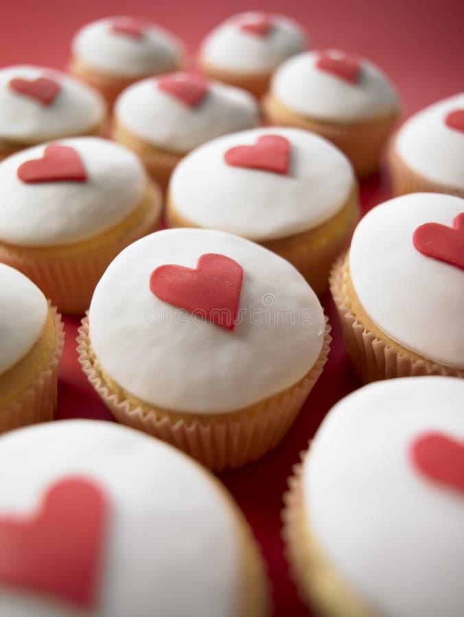 Gâteaux de cuvette de Valentine photos libres de droits