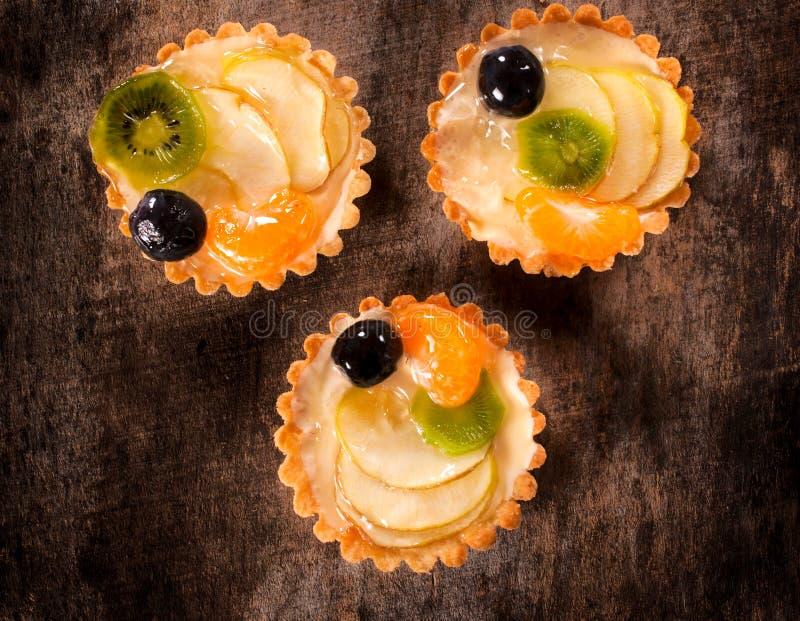 Gâteaux de fruit photo libre de droits