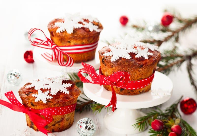 Gâteaux de fruit de Noël photographie stock
