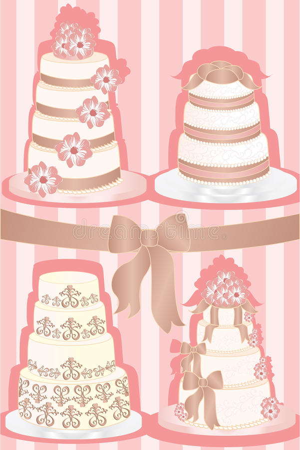 Gâteaux de mariage illustration stock