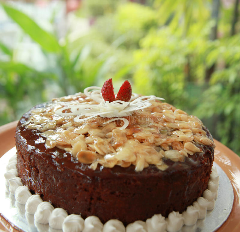 Gâteaux de noix d'amande image libre de droits