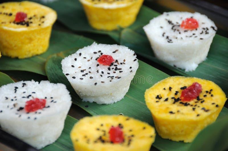 Gâteaux de riz colorés de casse-croûte de Chengdu photo stock