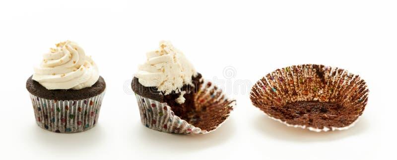 Gâteaux de tasse de chocolat image libre de droits