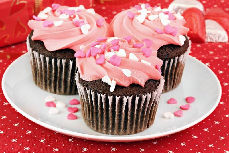 Gâteaux de Valentine photos libres de droits