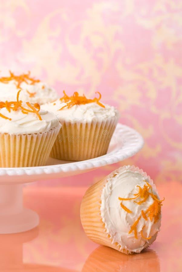 Gâteaux de zeste orange images libres de droits