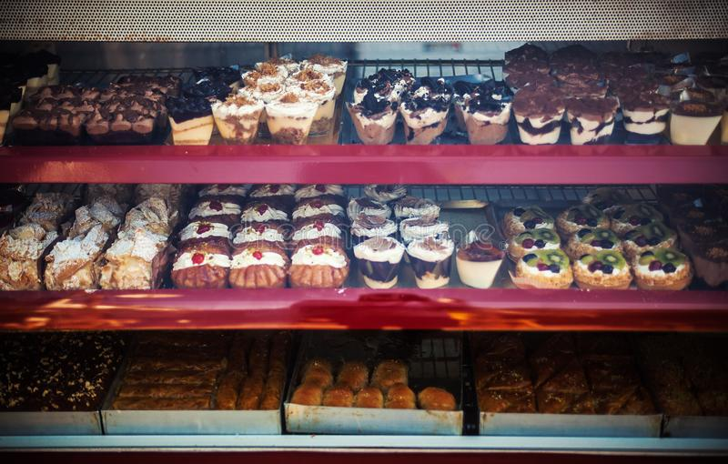 Gâteaux doux de Grec photos libres de droits