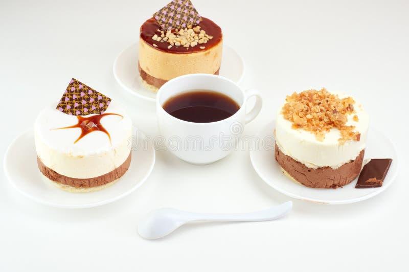 Gâteaux et café, photo stock