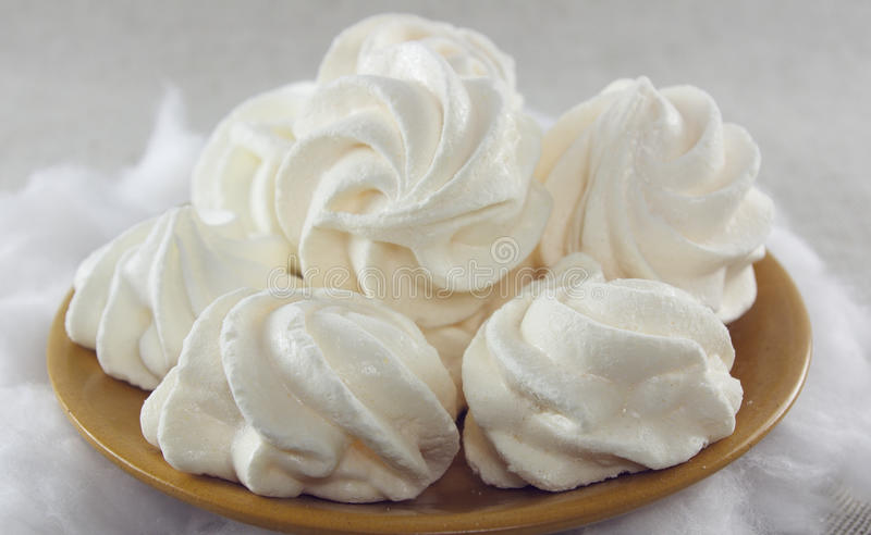 Gâteaux mous de meringue photos stock