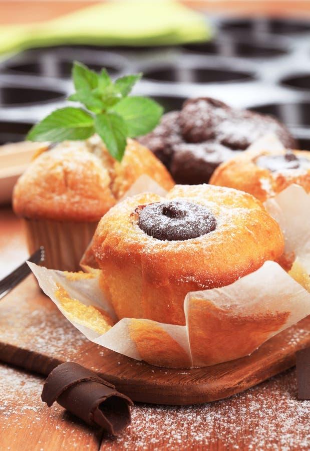 Gâteaux mousseline photo stock