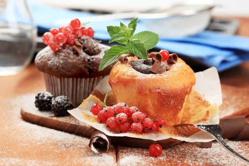 Gâteaux mousseline savoureux photo stock