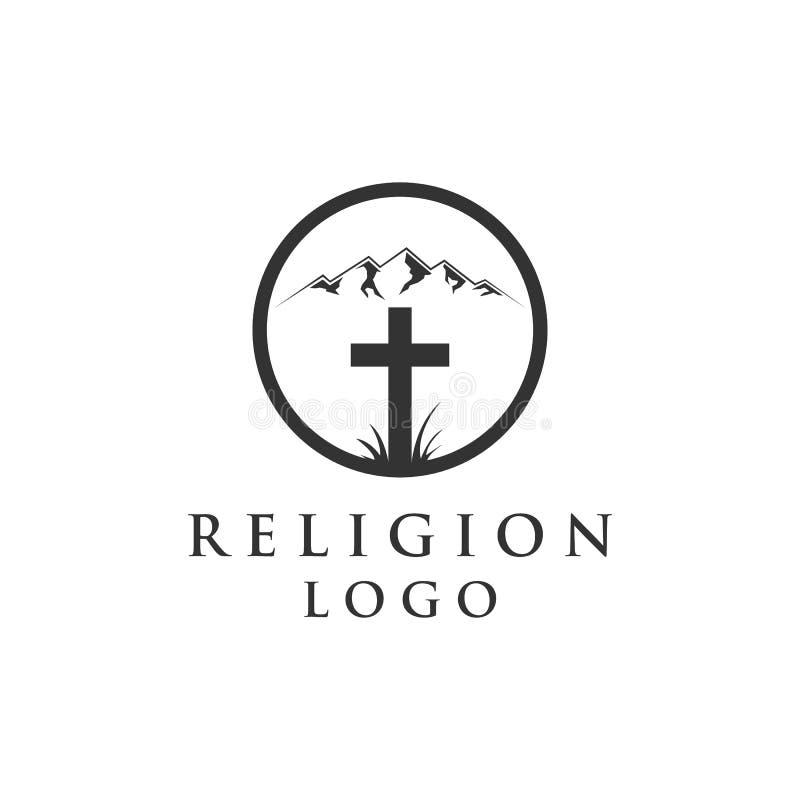 Góra i religia logo ilustracji