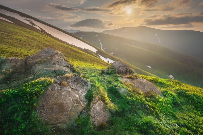 Góra Krajobraz Karpacki Gorgany, Ukraina Obraz Stock - Obraz