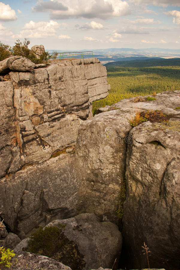 Góry stołowe. Stolowe mountains in east Poland stock photos