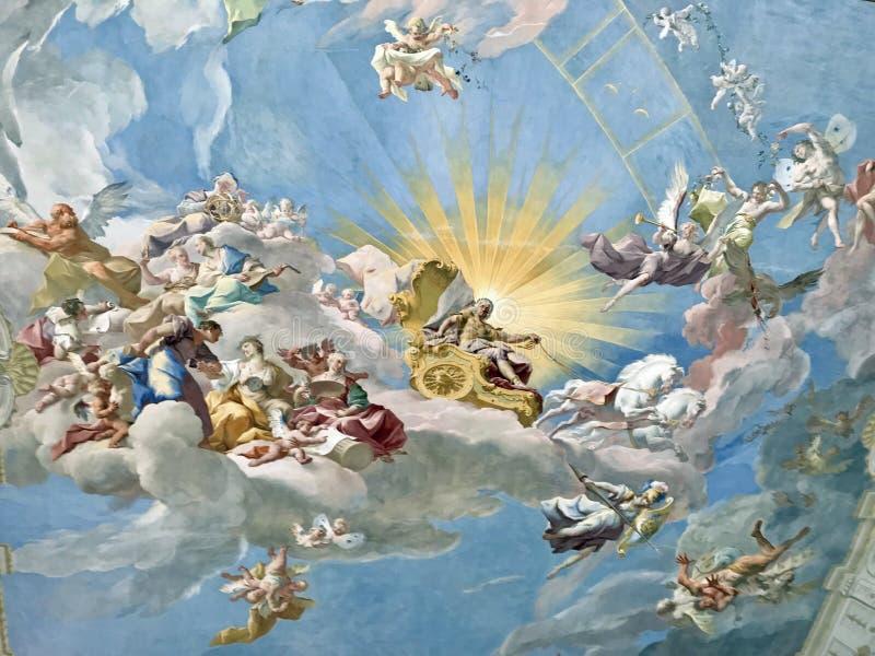 Göttweig Abbey Fresco immagini stock