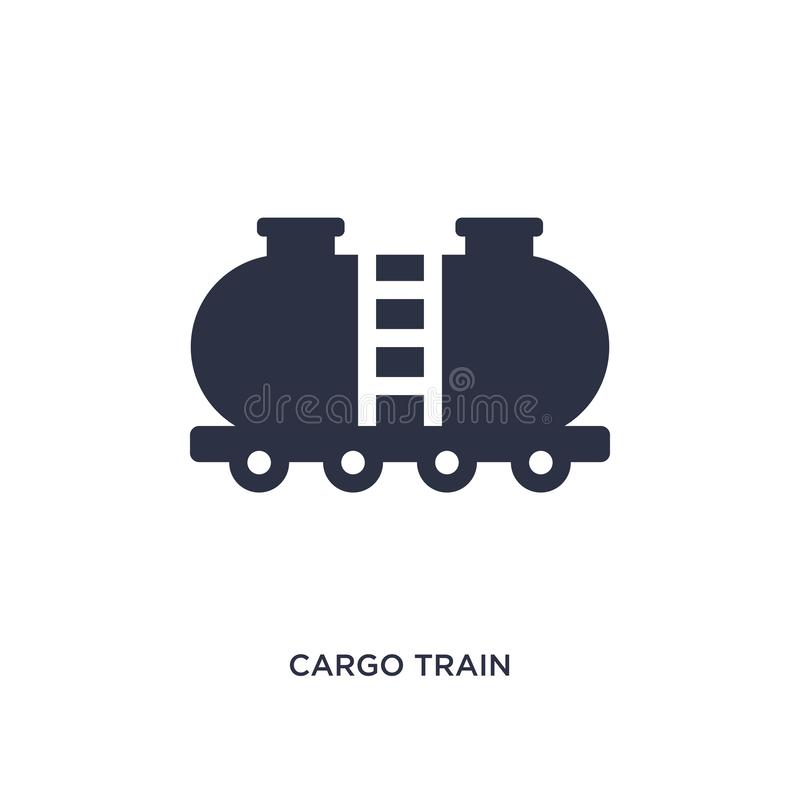 Güterzugikone auf weißem Hintergrund Einfache Elementillustration vom Lieferungs- und Logistikkonzept vektor abbildung