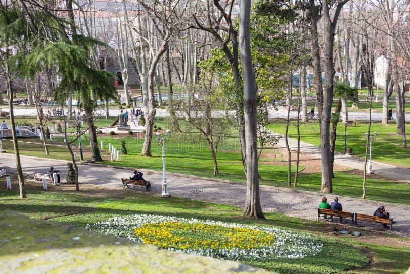 GÃ ¼ lhane Park, Istanboel stock fotografie
