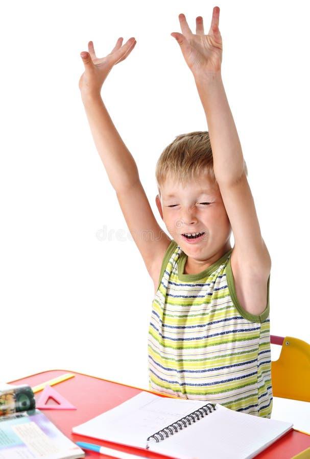 Gähnender Schüler stockbild