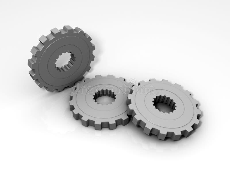 Gänge 3D stock abbildung
