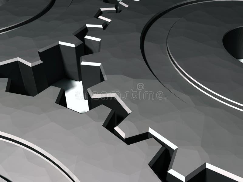 Gänge 3D, die im Tandem arbeiten stock abbildung