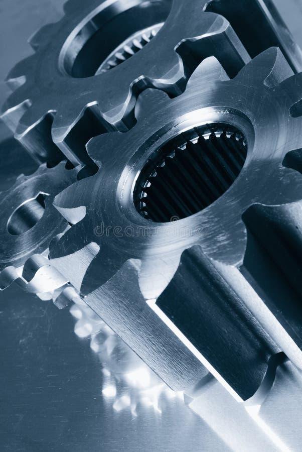 Gänge, die gegen Stahl anschließen stockfotografie