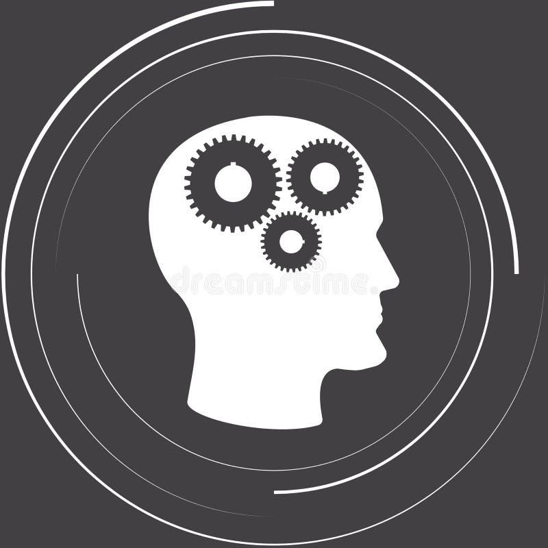 Gänge im Kopf stock abbildung