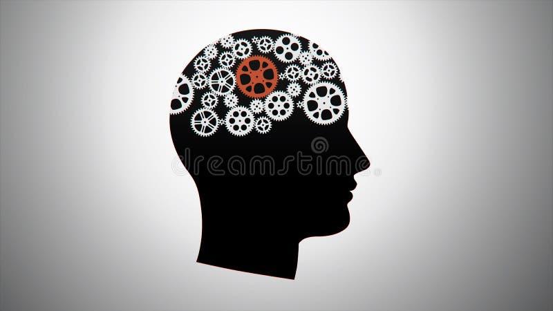 Gänge im Kopf lizenzfreie abbildung