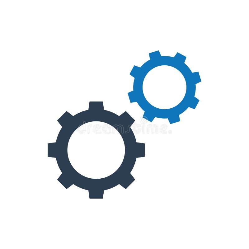 Gänge, Konfiguration, Ikone vektor abbildung
