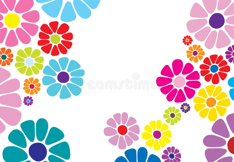Gänseblümchenblumenmuster stock abbildung