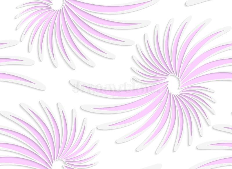 Gänseblümchenmit blumenblumen des farbigen Papiers des Weiß rosa lizenzfreie abbildung