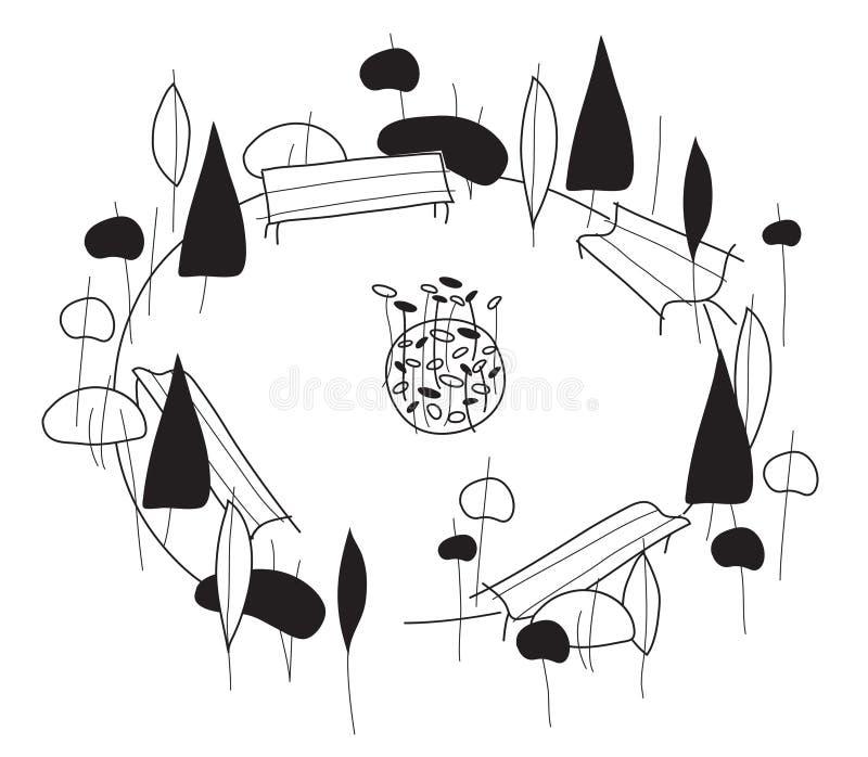 Gärten vektor abbildung