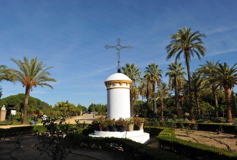 Gärten des Klosters von La Rabida, Huelva-Provinz, Spanien stockfotografie