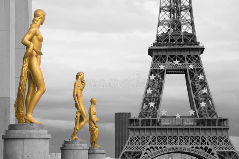 Gärten des Trocadero lizenzfreies stockfoto
