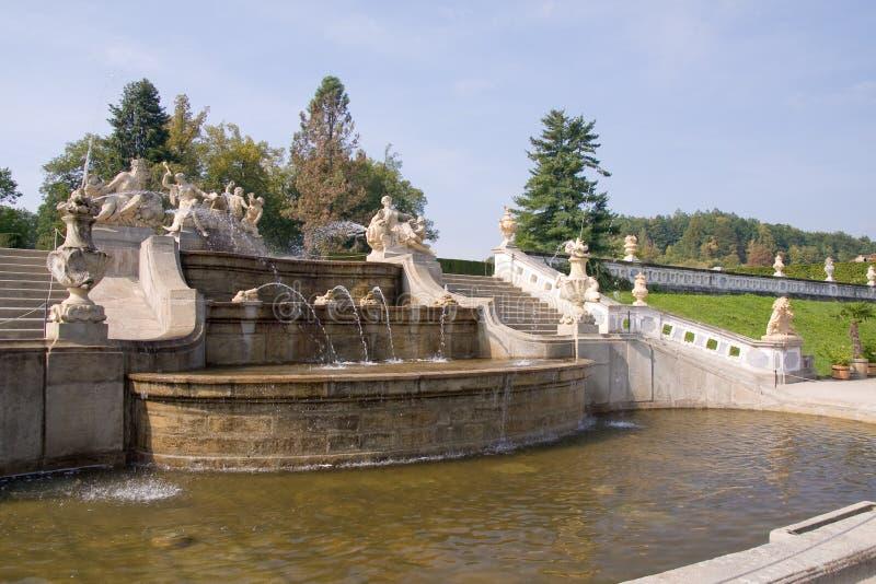 Gärten Moravsky Krumlov des Schlosses stockbilder