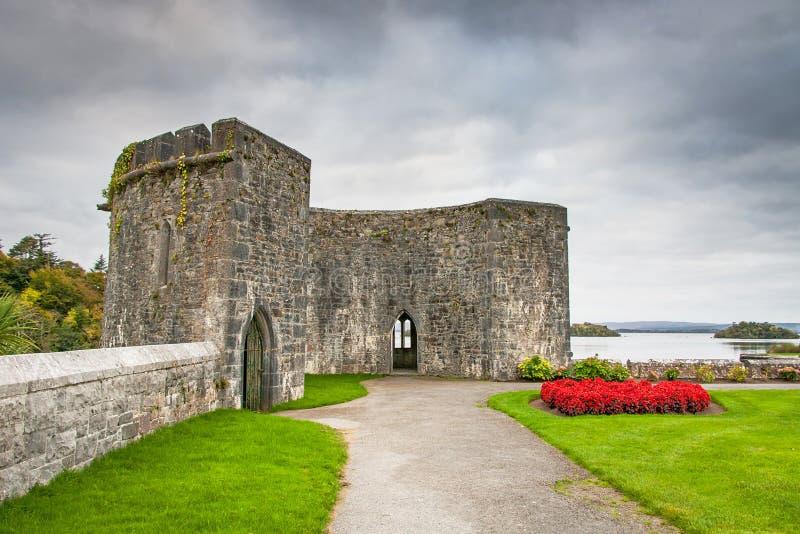 Gärten von Ashford-Schloss lizenzfreies stockbild
