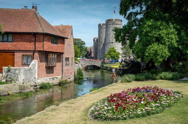 Gärten von Canterbury, Kent stockbilder