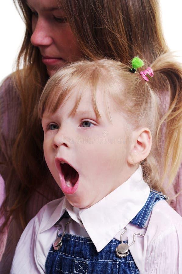gäspa för flicka royaltyfri fotografi