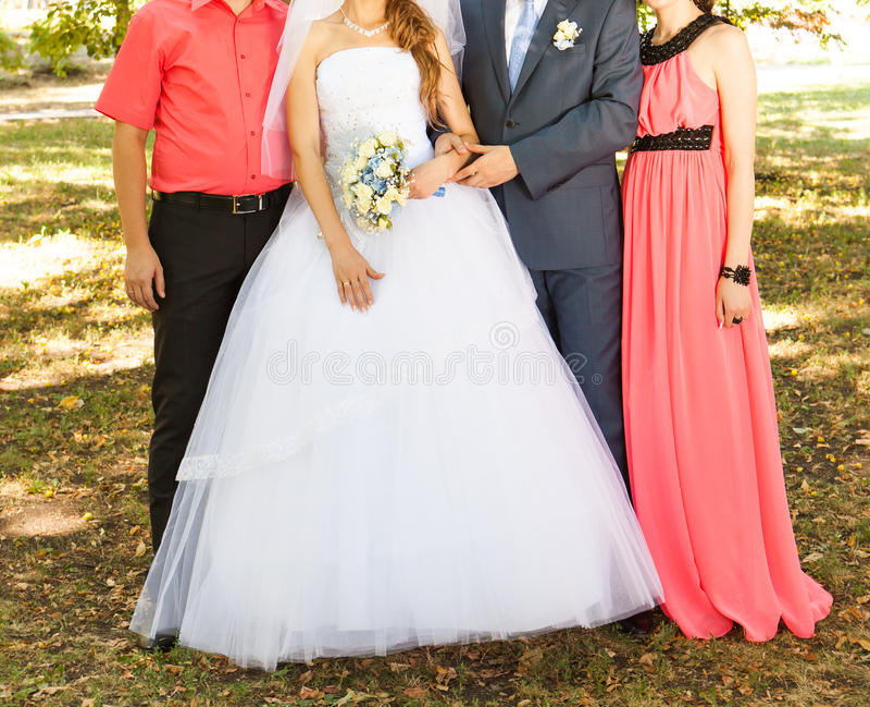 Gäste an der Hochzeit stockbild