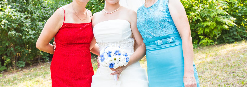 Gäster på bröllopet arkivbild