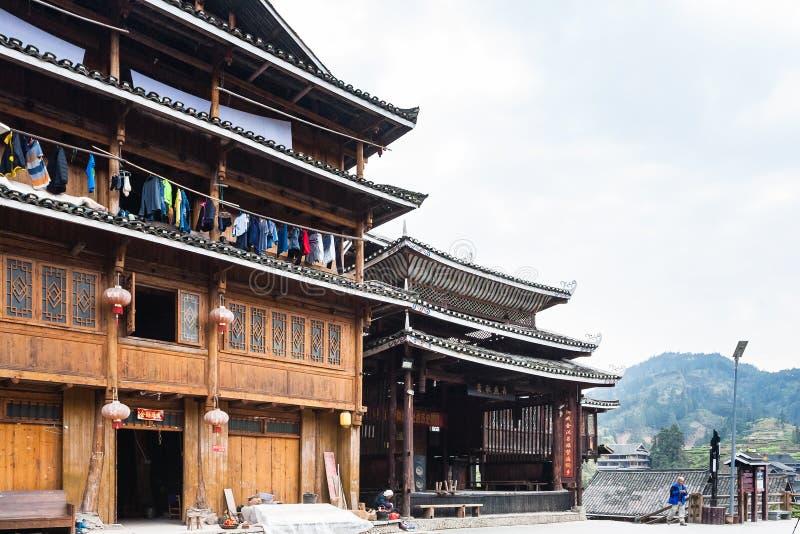 Gästhus i Folk beställnings- mitt av Chengyang royaltyfri fotografi