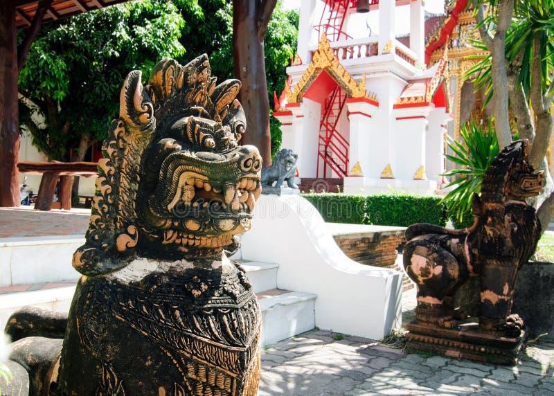Główny miejsce pielgrzymka dla Thais w Phuket Buddyjskiej świątyni Wat Chalong zdjęcie stock
