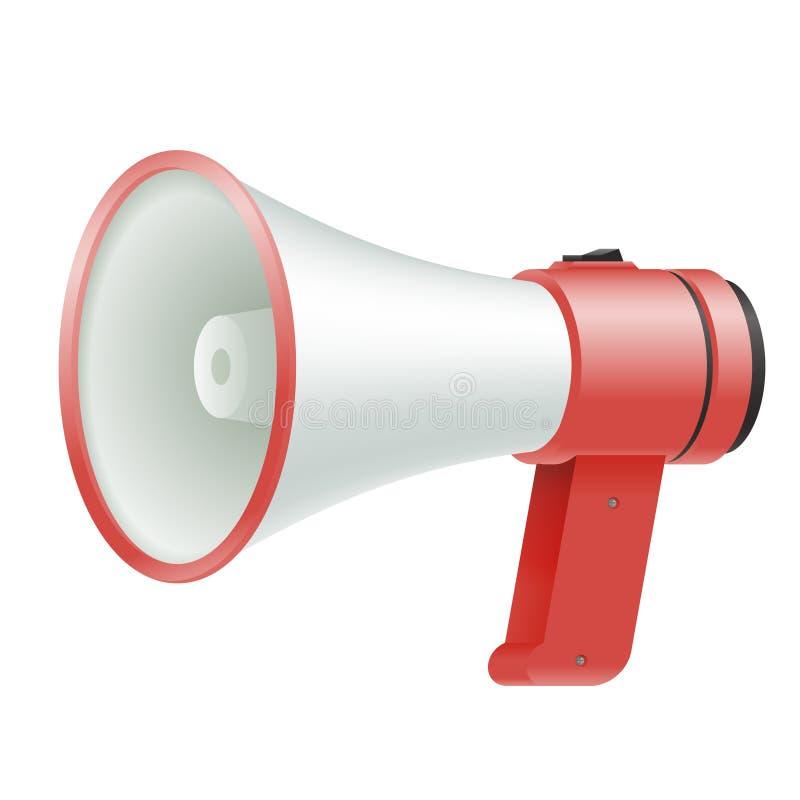 Głośnego mówcy megafonu głośnika głosu amplifikatoru reklamy przedmiota szablonu krzyka wektoru ilustracja royalty ilustracja