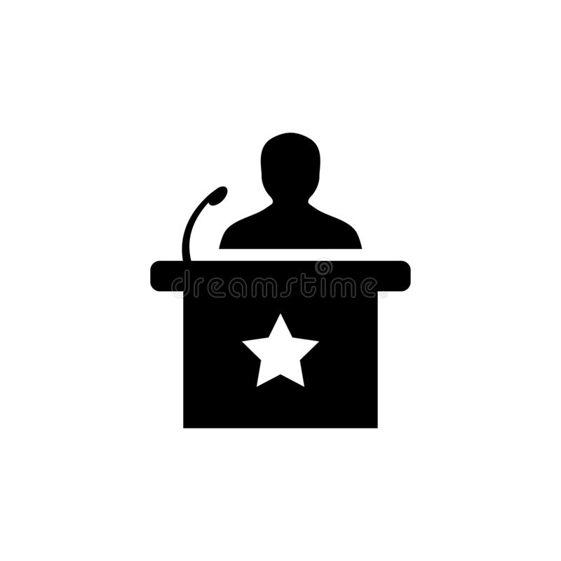 Głośnikowa ikona W mieszkanie stylu Wektorowej ikonie Dla Apps I stron internetowych Czarna ikona również zwrócić corel ilustracj ilustracji