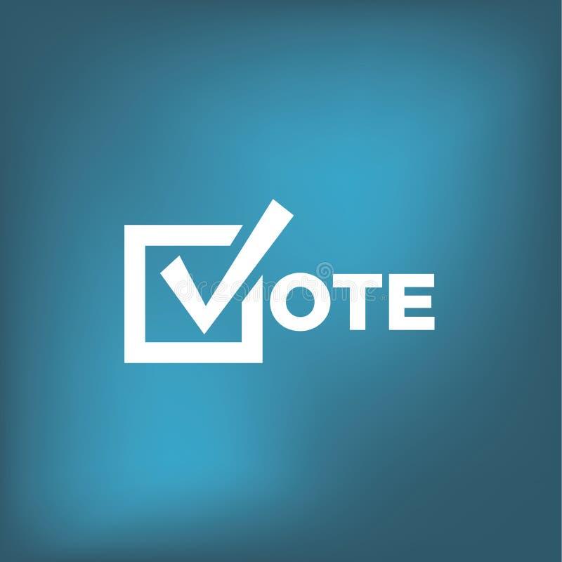 Głosować 2020 ikonę z głosowaniem, rząd, Patriotyczny symbolizm & kolory, ilustracja wektor