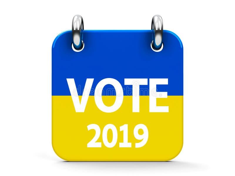 Głosowanie wybory ikony 2019 kalendarz royalty ilustracja