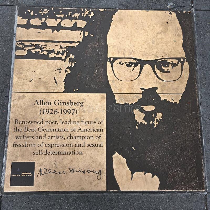 Gå av bög, regnbågehedern går, Allen Ginsberg arkivfoto