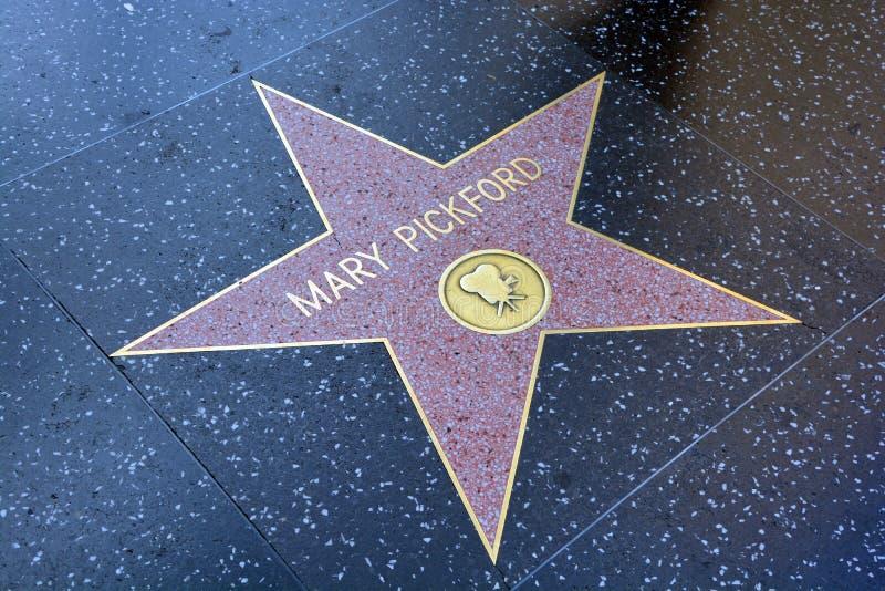 Gå av berömmelsestjärnan av Mary Pickford royaltyfria bilder