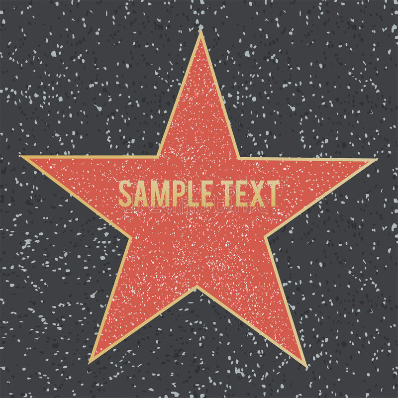 Gå av berömmelsestjärnan på granitgolv också vektor för coreldrawillustration royaltyfri illustrationer
