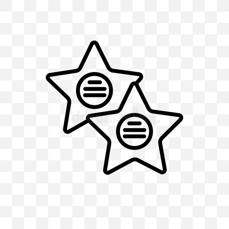Gå av den linjära symbolen för berömmelsevektorn som isoleras på genomskinlig bakgrund, gå av berömmelsestordiabegrepp kan använd stock illustrationer