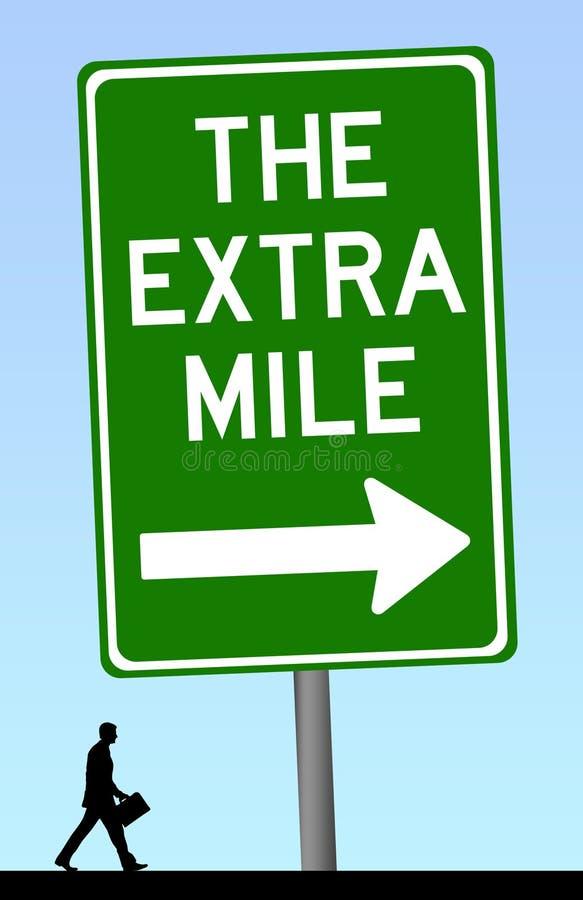 Gå den extra mil stock illustrationer
