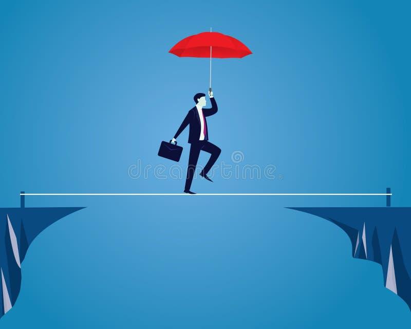 gå för affärsmanrep Riskutmaning i affärsidé vektor illustrationer